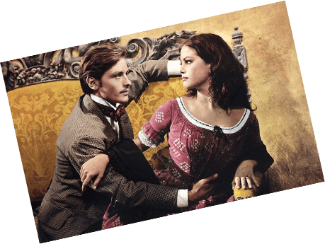 Movie still of Burt Lancaster and Claudia Cardinale from The Leopard