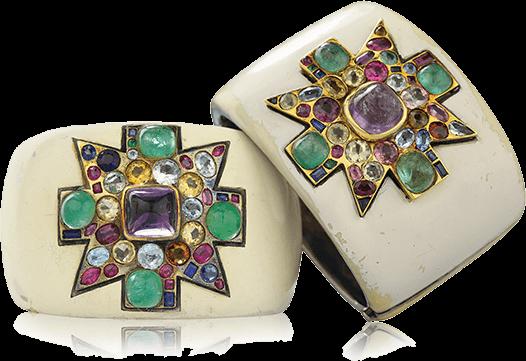 The Original Maltese Cross Cuffs made for Coco Chanel by Duke Fulco di Verdura