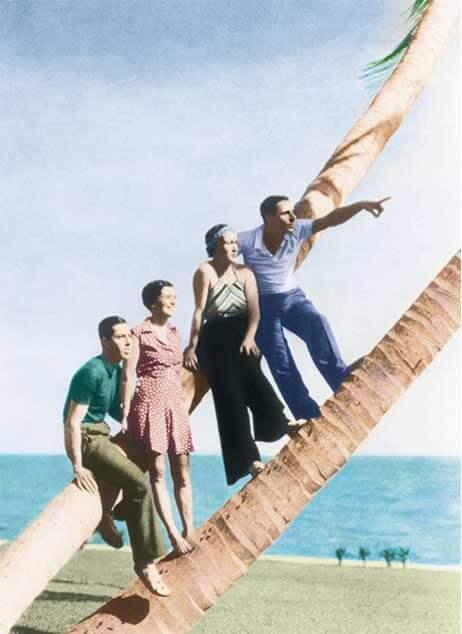 Fulco di Verdura and friends in Palm Beach Florida in 1935