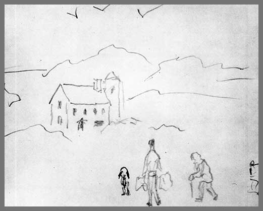 Pencil sketch by Fulco di Verdura
