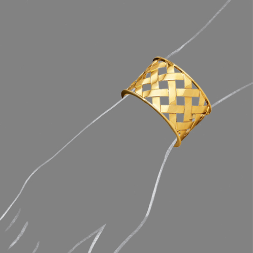 Verdura-Jewelry-Criss-Cross-Cuff-Yellow-Gold-Scale-Rendering