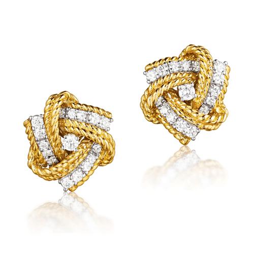 Verdura-Jewelry-Pinwheel-Earclips-Gold-Diamond