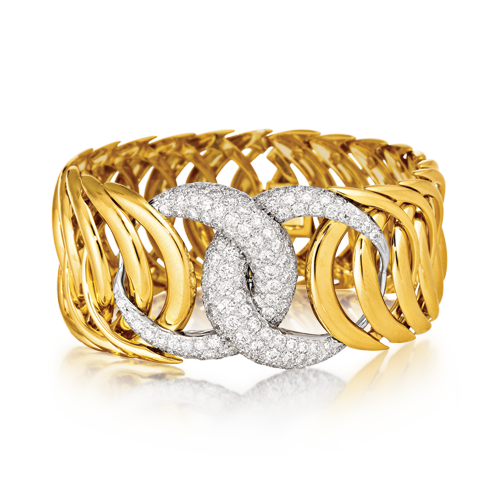 Double Crescent Bracelet_Diamond-Gold_07_web