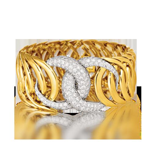 Double Crescent Bracelet_Diamond-Gold_07_web