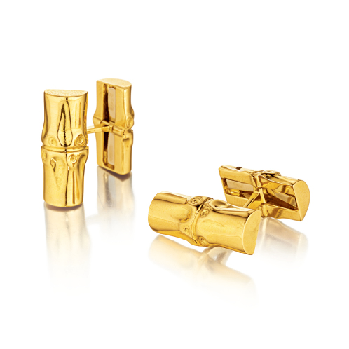 Verdura-Jewelry-Bamboo-Cufflinks-Gold