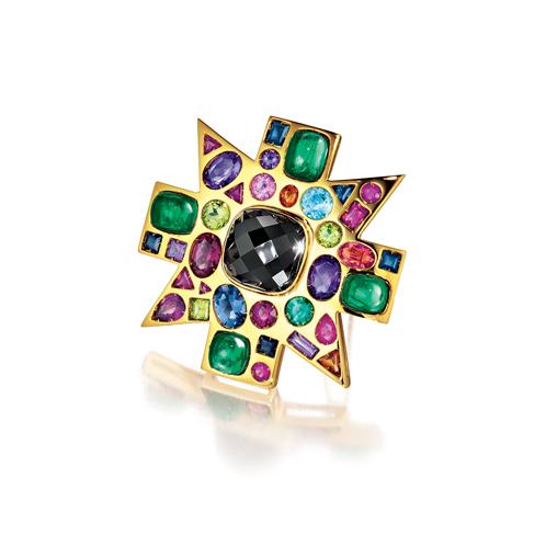 Verdura-Jewelry-Byzantine-Brooch-Spinel-Emerald