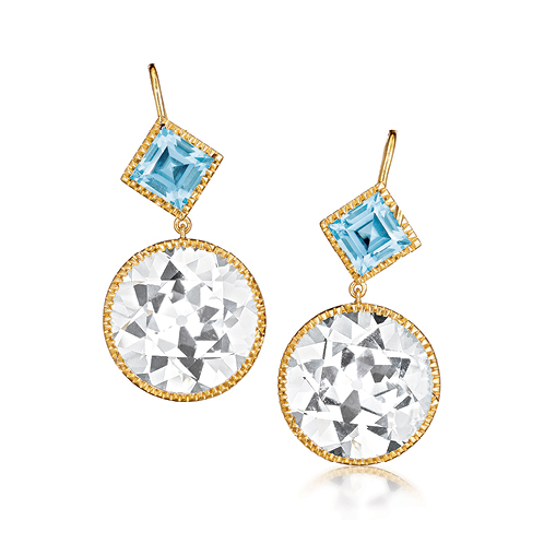 Verdura-Jewelry-Byzantine-Drop-Earrings-Round-Gold-White-Blue-Topaz