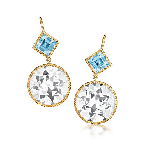 Verdura-Jewelry-Byzantine-Drop-Earrings-Round-Gold-White-Blue-Topaz