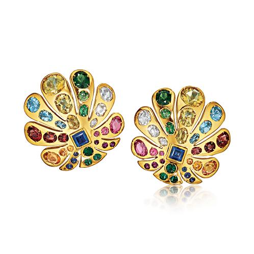 Verdura-Jewelry-Byzantine-Peacock-Earclips-Gold