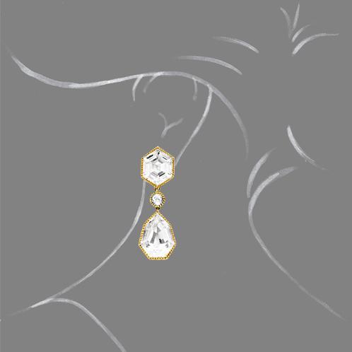 Verdura-Jewelry-Byzantine-Pendant-Earclips-White-Topaz-Scale-Rendering