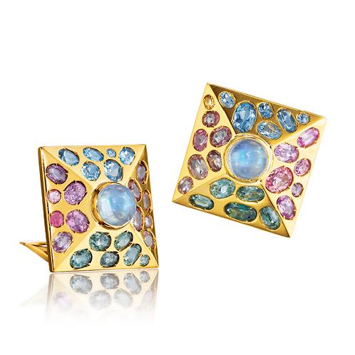 Verdura-Jewelry-Byzantine-Pyramid-Earclips