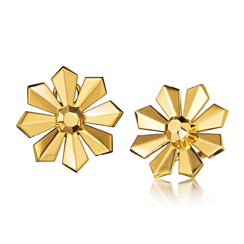 Verdura-Jewelry-Byzantine-Ray-Earclips-Gold