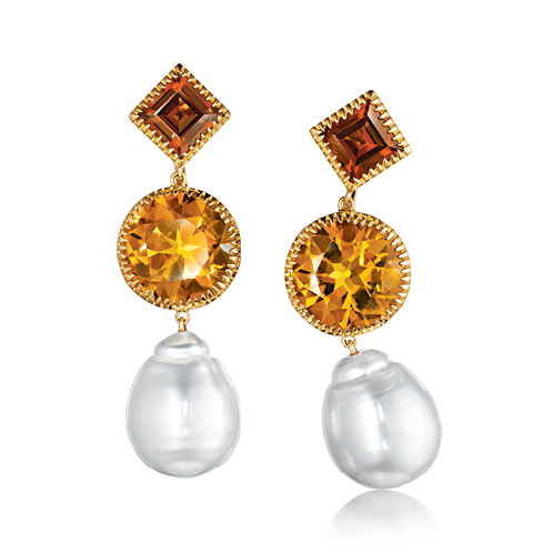 Verdura-Jewelry-Byzantine-Theodora-Earrings-Gold-Citrine-Pearl