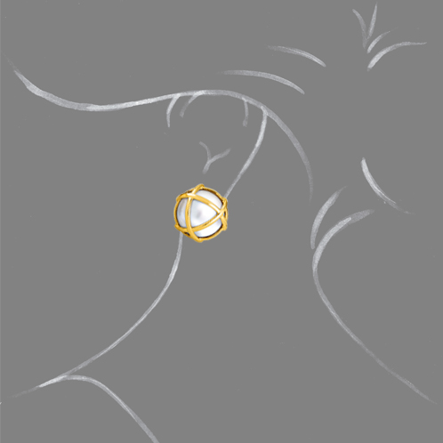Verdura-Jewelry-Caged-Earclip-Pearl-Scale-Rendering