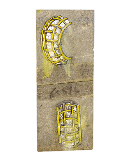 Verdura-Jewelry-Caged-Earclips-Sketch-E7