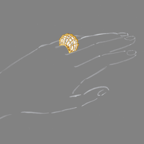 Verdura-Jewelry-Caged-Ring-Rock-Crystal-Scale-Rendering