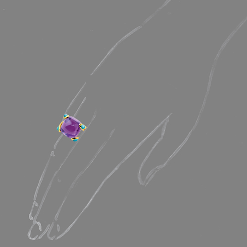 Verdura-Jewelry-Candy-Ring-Amethyst-Scale-Rendering