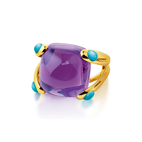 Verdura-Jewelry-Candy-Ring-Gold-Amethyst-Turquoise