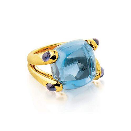 Verdura-Jewelry-Candy-Ring-Gold-Blue-Topaz-Iolite