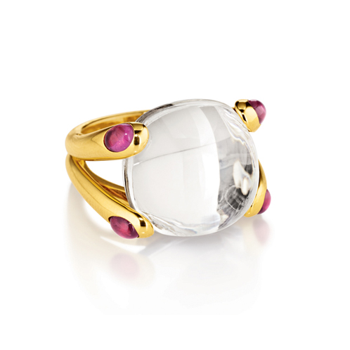 Verdura-Jewelry-Candy-Ring-Gold-White-Topaz-Tourmaline