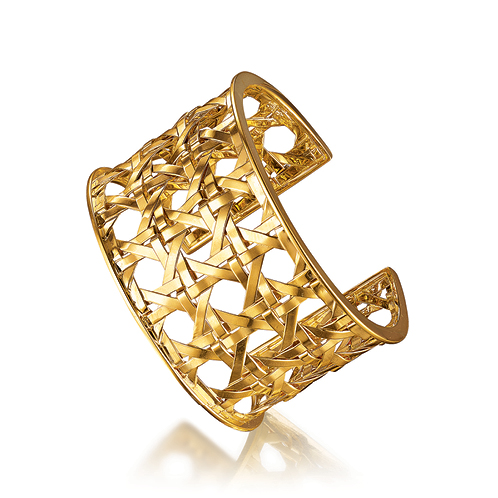 Verdura-Jewelry-Caned-Cuff-Gold