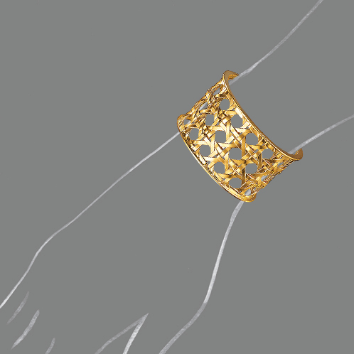 Verdura-Jewelry-Caned-Cuff-Scale-Rendering