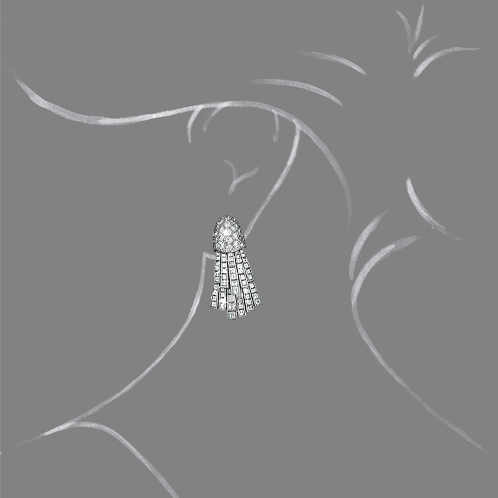 Verdura-Jewelry-Comet-Earclips-Diamond-Scale-Rendering