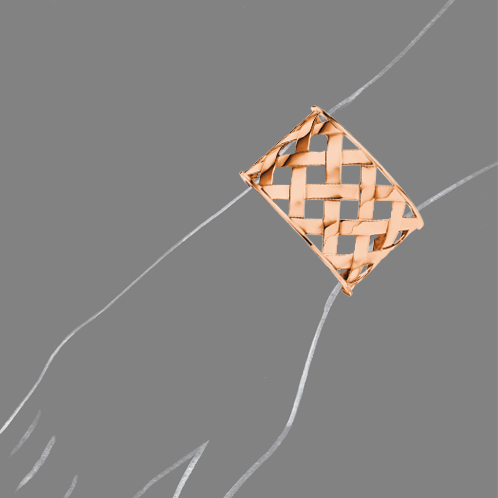 Verdura-Jewelry-Criss-Cross-Cuff-Rose-Gold-Scale-Rendering