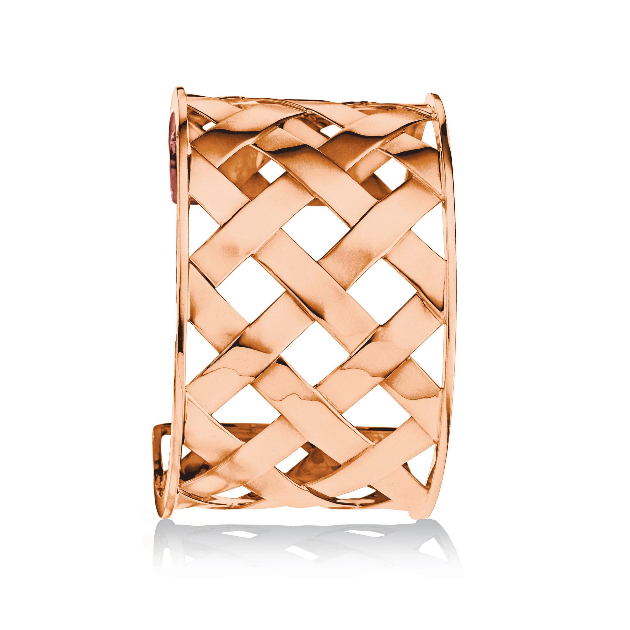 Verdura-Jewelry-Criss-Cross-Cuff-Rose-Gold