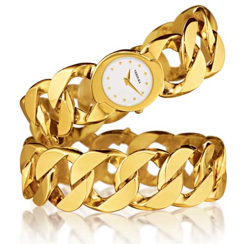 Verdura-Jewelry-Curb-Link-Bracelet-and-Watch-Gold