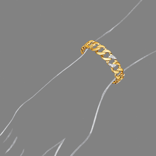 Verdura-Jewelry-Curb-Link-Cuff-Yellow-Gold-Diamond-Scale-Rendering