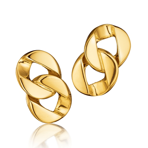 Verdura-Jewelry-Curb-Link-Earclips-Gold