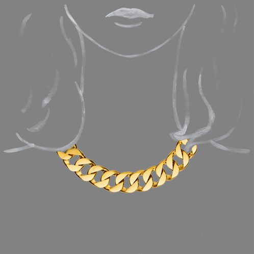 Verdura-Jewelry-Curb-Link-Necklace-Gold-Scale-Rendering
