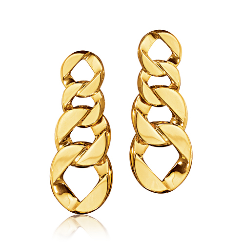 Verdura-Jewelry-Curb-Link-Pendant-Earclips-Gold