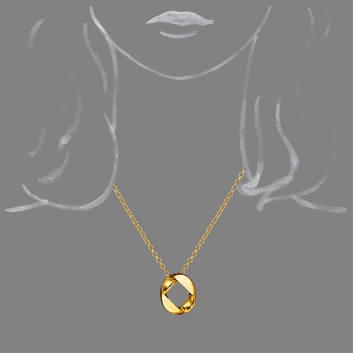 Verdura-Jewelry-Curb-Link-Pendant-Necklace-Gold-Scale-Rendering