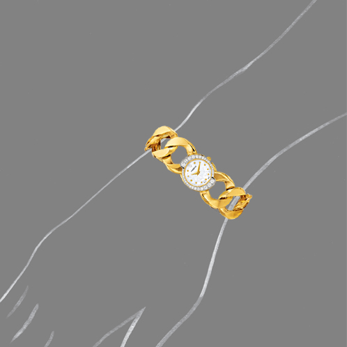 Verdura-Jewelry-Curb-Link-Watch-Gold-Diamond-Scale-Rendering