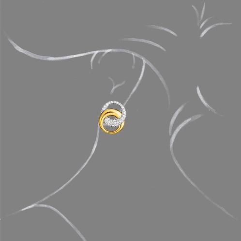 Verdura-Jewelry-Double-Crescent-Earclips-Gold-Diamond-Scale-Rendering