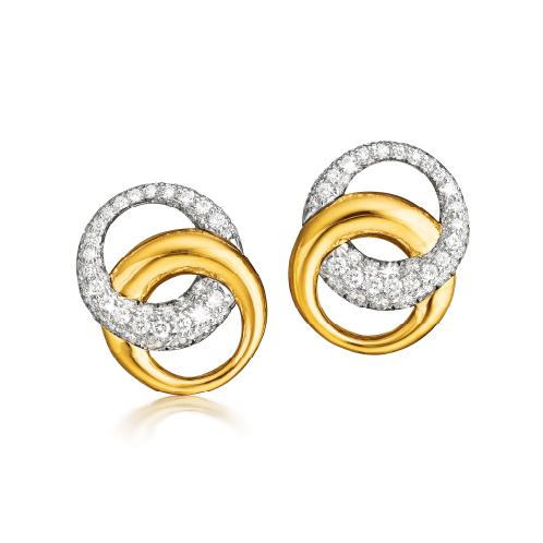 Verdura-Jewelry-Double-Crescent-Earclips-Gold-Diamond