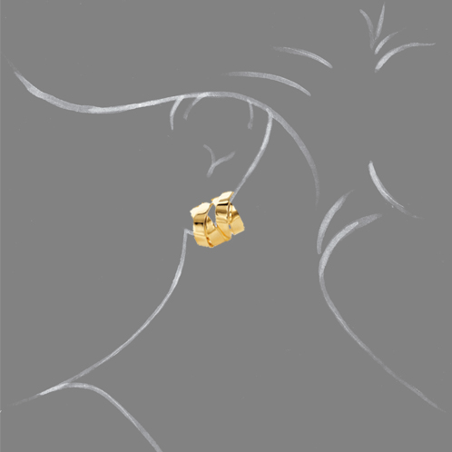 Verdura-Jewelry-Double-X-Earclips-Gold-Scale-Rendering