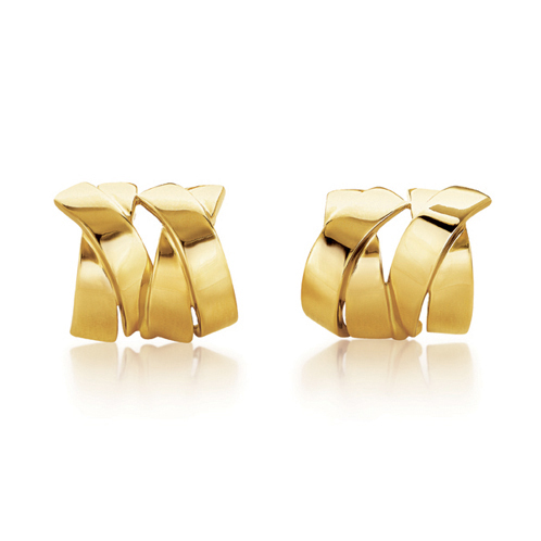 Verdura-Jewelry-Double-X-Earclips-Gold