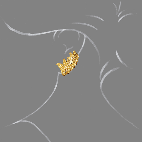 Verdura-Jewelry-Feather-Cuff-Earclips-Gold-Scale-Rendering