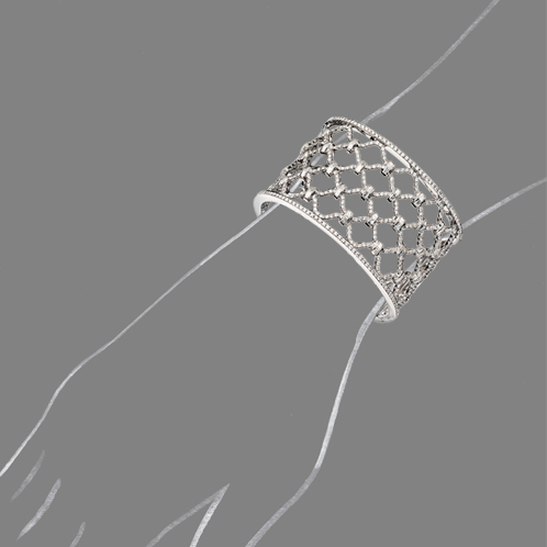 Verdura-Jewelry-Kensington-Cuff-Diamond-Scale-Rendering
