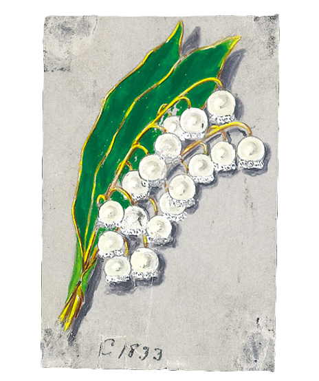 Verdura-Jewelry-Lily-of-the-Valley-Sketch-C29-Portrait