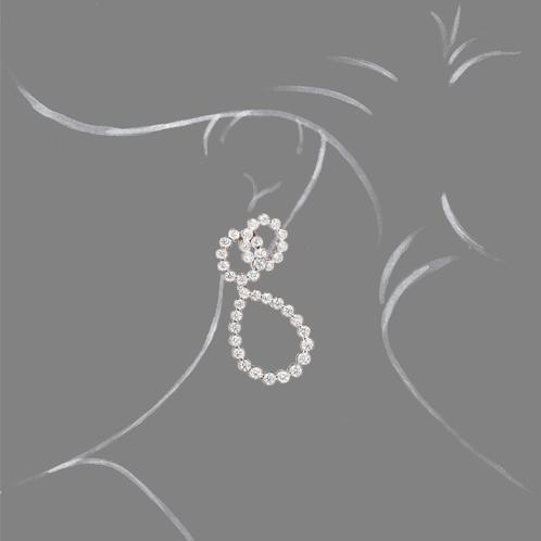 Verdura-Jewelry-Looped-Earclips-Platinum-Diamond-Scale-Rendering