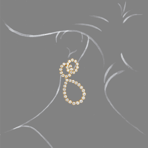 Verdura-Jewelry-Looped-Earring-Gold-Scale-Rendering