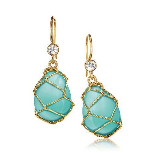 Verdura-Jewelry-Net-Drop-Earrings-Gold-Turquoise
