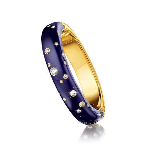 Verdura-Jewelry-Night-Bangle-Gold-Diamond-Enamel