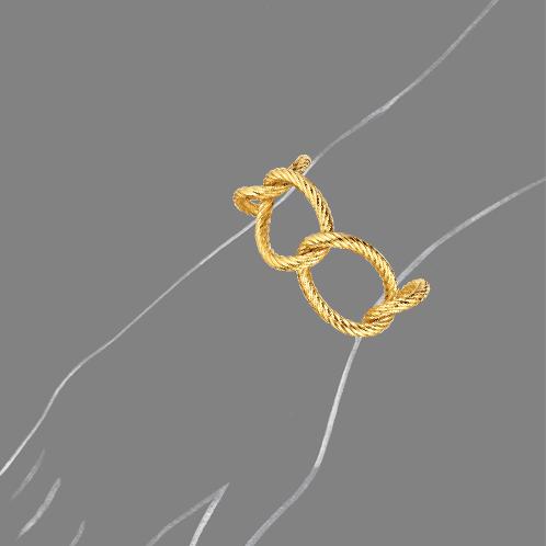 Verdura-Jewelry-Oval-Link-Bracelet-Scale-Rendering