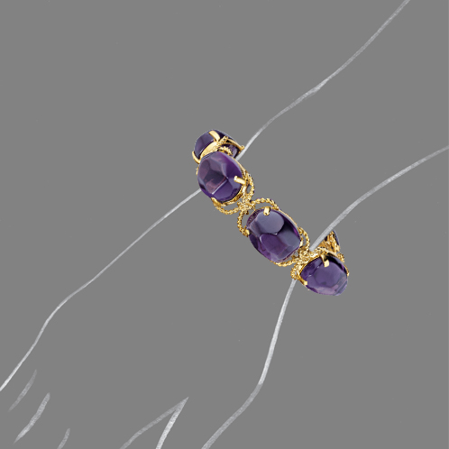 Verdura-Jewelry-Pebble-Bracelet-Amethyst-Scale-Rendering