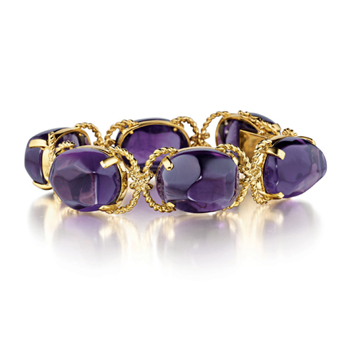 Verdura-Jewelry-Pebble-Bracelet-Gold-Amethyst